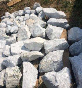 Камень белый мрамор