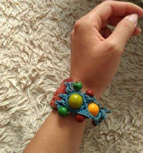 Этно-браслет ручной работы