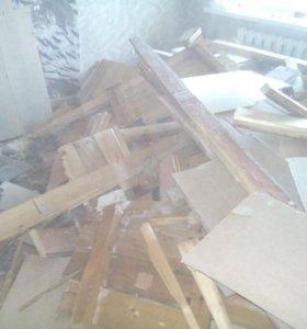 Старый пол на дрова отдам бесплатно самовывоз