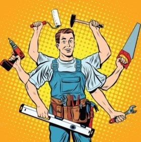 Любые виды ремонтных работ. Натяжные потолки.