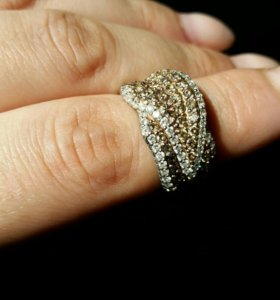 Кольцо золото 1.7ct бриллианты