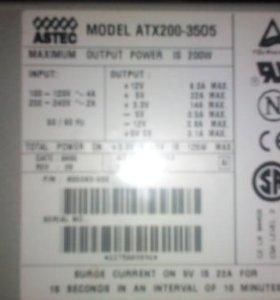 Продам блок питания astec atx 200-3505