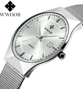 Часы WWOOR оригинал водонепр календарь