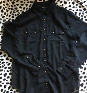 Чёрная блузка Mango