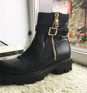 Кожаные ботинки, весна-осень