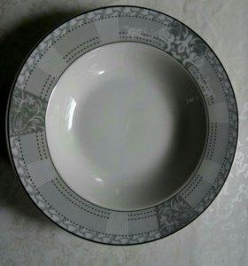 Тарелка фарфор суповая и десертная