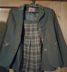 Костюм школьный (юбка и пиджак)