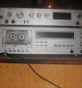 Усилитель Радиотехника, магнитофон Электроника
