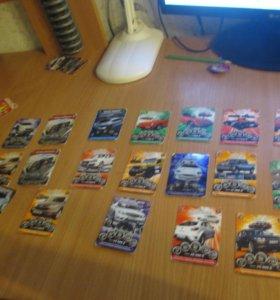 карточки супер гонки