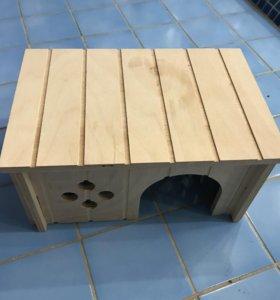 Деревянный домик для мелких животных