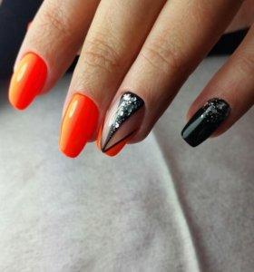 Маникюр,покрытие гель-лак,дизайн ногтей.