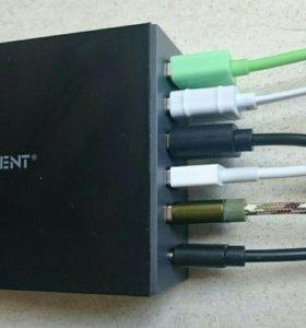 Зарядка на 5 usb + type-c