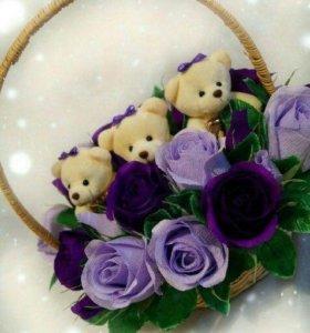 Корзинки из цветов