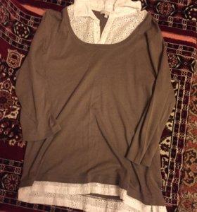 3 кофты рубашки блузки