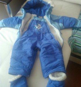 Зимний Комбинезон-трансформер для детей до 1 года