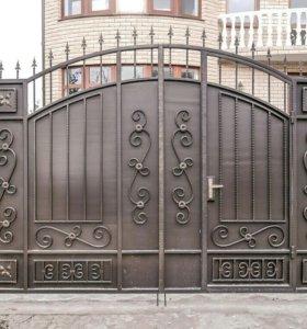 Кованые ворота артикул 8