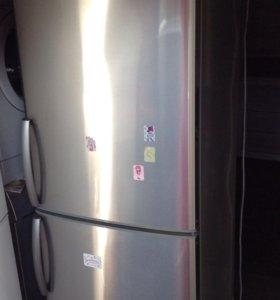 Двухкамерный холодильник LG, стальной