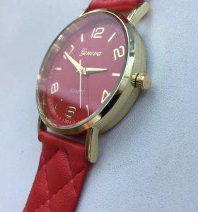 Часы женские Женева. Ремешок в клетку. 81217