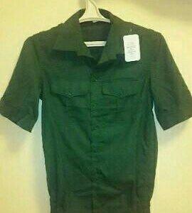 Военная офисная рубашка с коротким рукавом новая