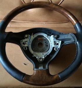 Руль от Passat B5 кожа + дерево