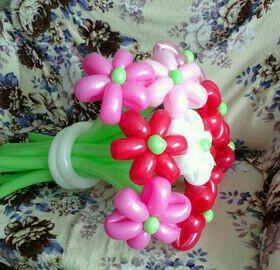 Воздушные цветы и шары