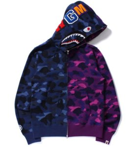 Jacket Bape color camo half half