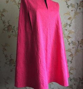 Платье-пончо из итальянского жаккарда