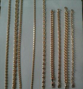 Бижутерия цепочки и браслеты