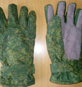 Перчатки зимние камуфлированные