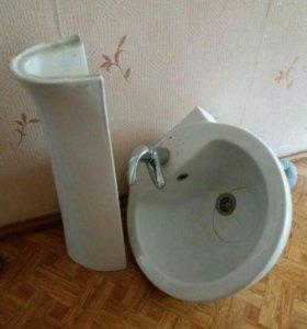 Раковина Б/У + смеситель