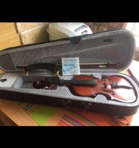 Скрипка 3/4 с футляром