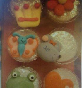 12 сахарных фигурок из серии Принцесса