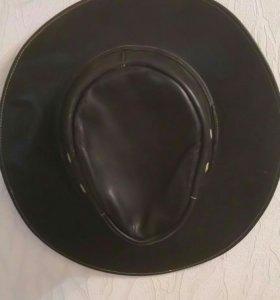 Шляпа ковбойская кожаная