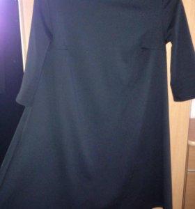 Платье 44-46,рукава по локоть, свободного пошива