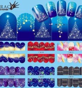 5+1 ❄️ Новогодние Наклейки для ногтей