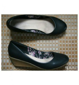 Черные школьные туфли, рр. 37-38