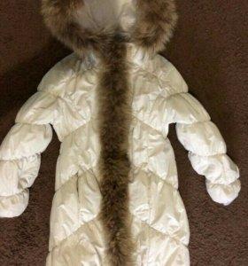 Пальто зимнее на девочку