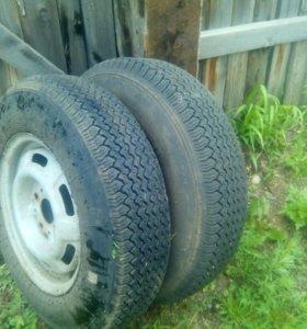 2 колеса для прицепа
