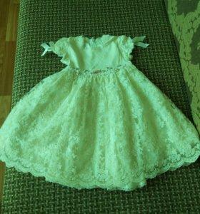 Шикарное итальянское платье с 1.5 до 3 лет