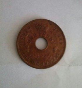 1 пенни Нигерии 1959года