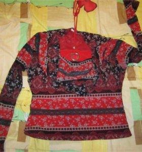 цветастая блузка 46-48