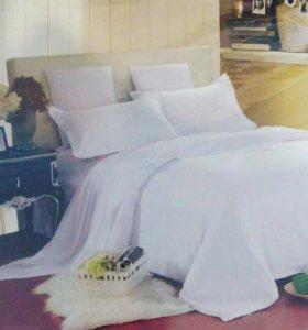 Комплект постельного белья. Белоснежный сатин.