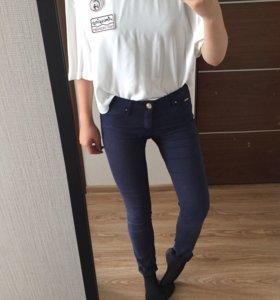 джинсы/брюки синие