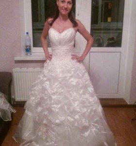 Платье свадебное (шампань)+фата