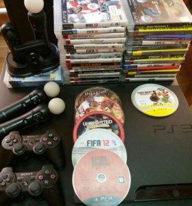 Sony PlayStation 3 35 дисков! И куча аксессуаров!