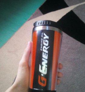 Термо стакан GEnergy 0.8 л