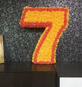 Цифра 7 для вашего праздника