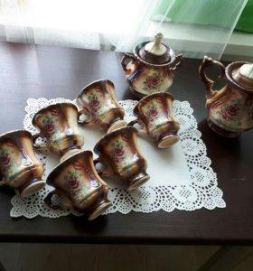 Чайный новый сервиз СССР ручной рабо в