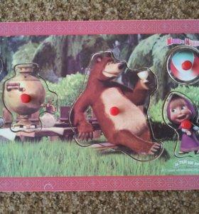 """Пазлы для малышей от  годаМаша и медведь""""Сипайлово"""