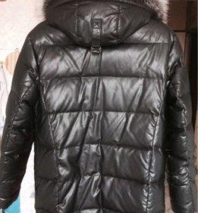 Муж.куртка зимняя, нат.кожа, песец